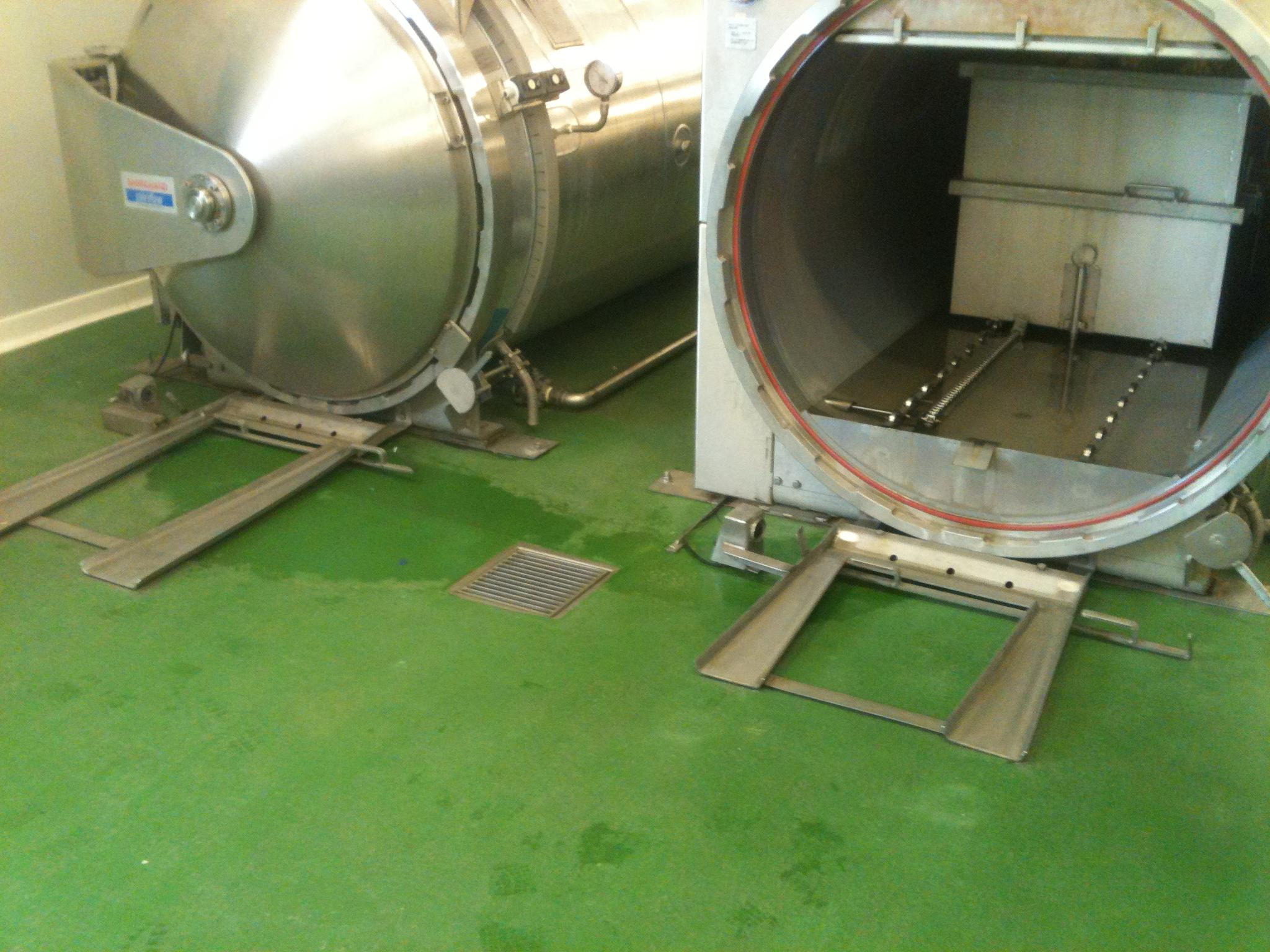 Polyuréthane Ciment 9 mm Usine de transformation de fruits