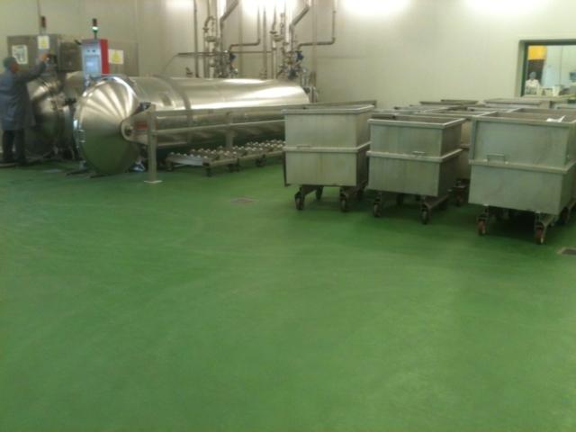 Polyuréthane Ciment Structuré Usine de transformation de fruits