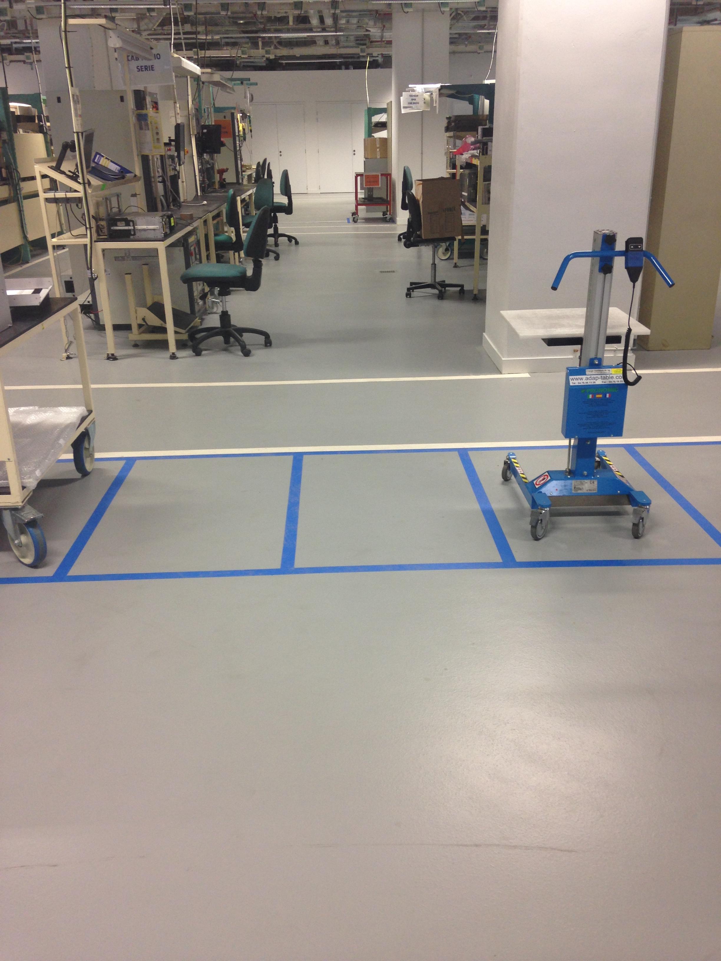 Semi Lisse Antistatique ALSTOM Transport Atelier de montage