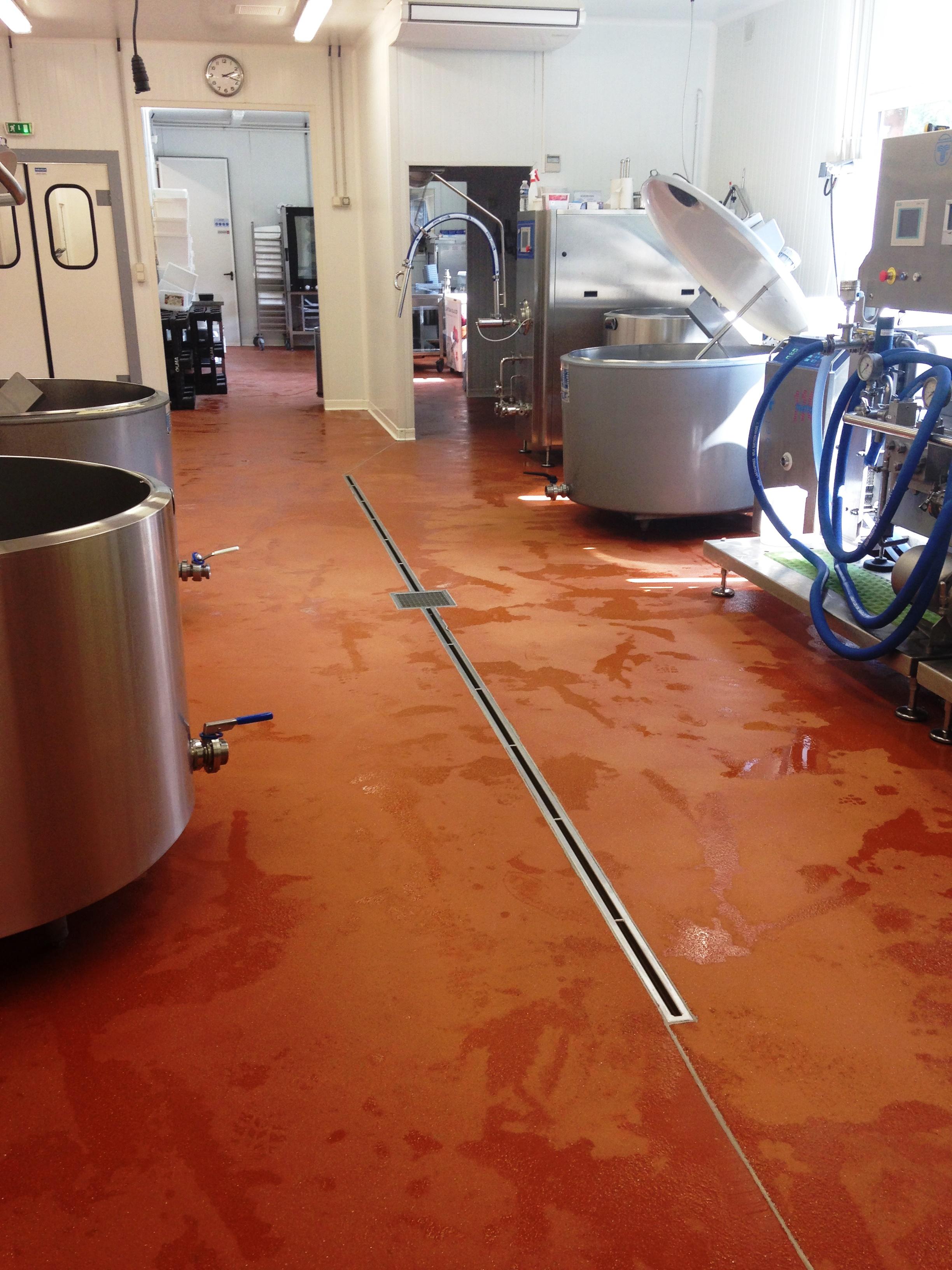 Polyuréthane Ciment Structuré 9 mm Laboratoire Agroalimentaire